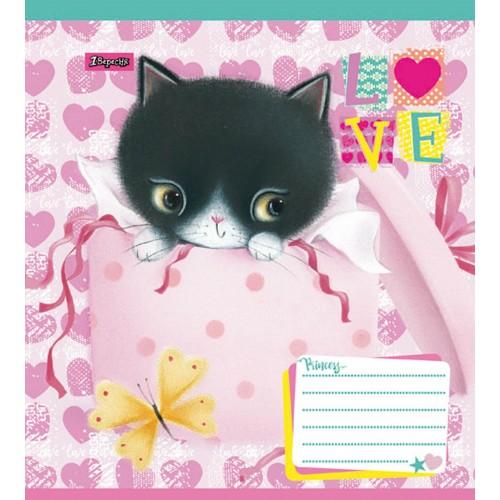 А5/12 кос. 1В Little Meow Love -17 тетрадь ученич. 760465