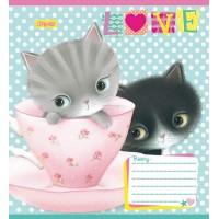 А5/12 кос. 1В Little Meow Love -17 тетрадь ученич.