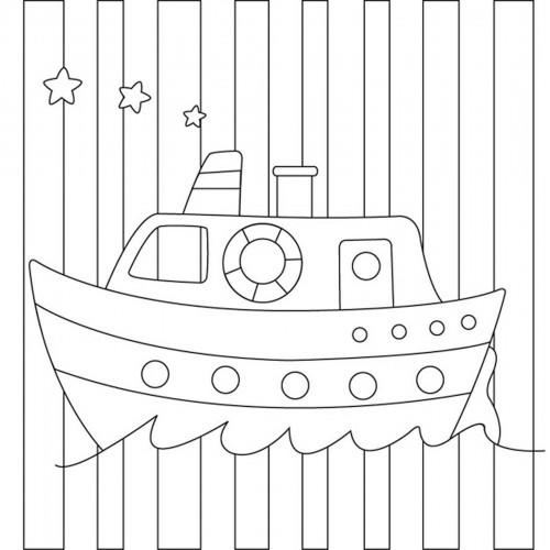 """Холст с контуром """"Кораблик"""" (20см*20см) 953213"""