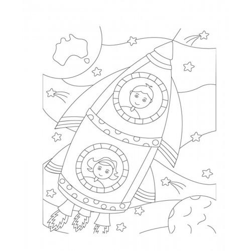 """Холст с контуром """"Космос"""" (25см*30см) 953219"""