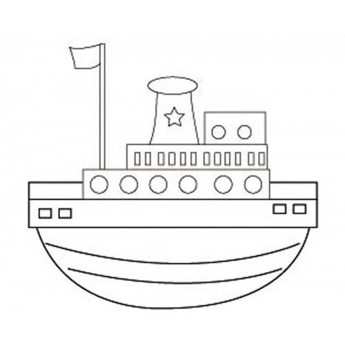 """Холст с контуром """"Лодка"""" (20см*25см) 953225"""