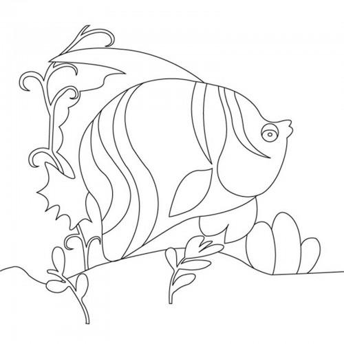 "Холст с контуром ""Рыбка"" (15см*15см) 953305"
