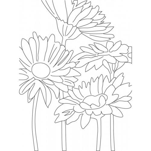 """Холст с контуром """"Цветы"""" (30см*40см) 953367"""