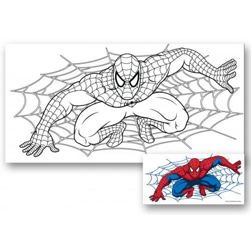 "Холст с контуром ""Человек-паук"" (15см*30см) 953375"