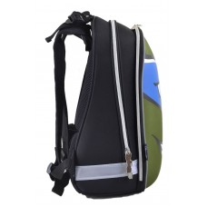 Рюкзак школьный каркасный 1 Вересня H-12 Turtles face, 38*29*15