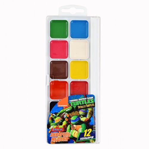 "Акварель 1Вересня ""Ninja Turtles"", 12 цв., б/к 110254"