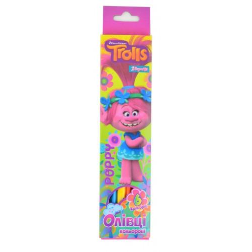 """Карандаши 6 цв. """"Trolls"""" 290378"""