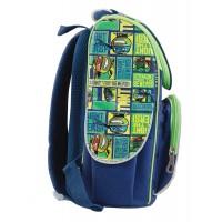 Рюкзак школьный каркасный 1 Вересня H-11 Turtles, 34*26*14