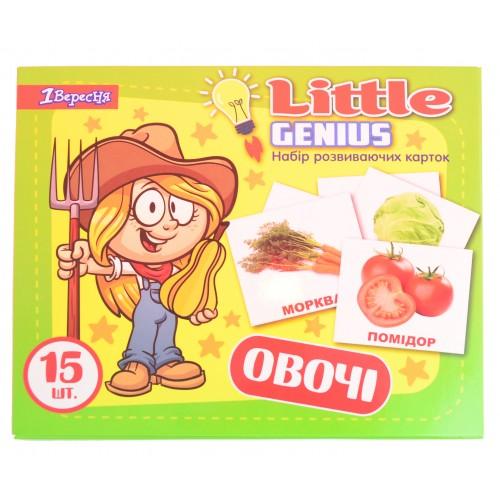"""Набор детских карточек """"Овощи"""", 15 шт в наборе (укр) 952795"""
