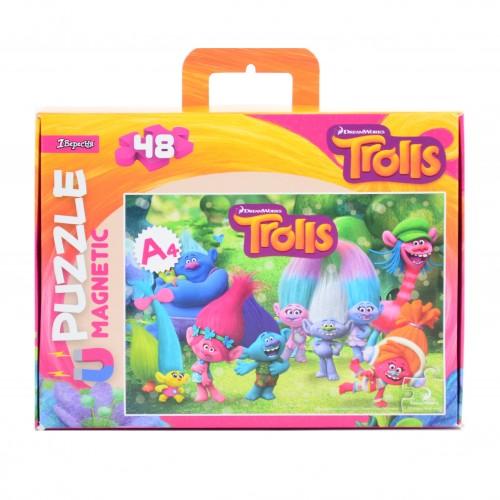 """Пазл магнитный А4 """"Trolls"""" 953566"""
