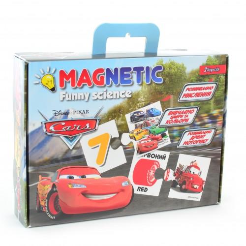 """Пазл магнитный развивающий А4 """"Funny science"""" """"Cars"""" 953579"""