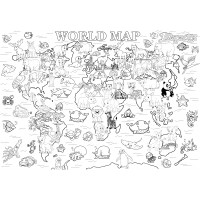 "Раскраска MAXI ""Карта мира"" 640*900 мм."