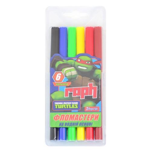 """Фломастеры  6 цв. """"Ninja Turtles"""" 650273"""