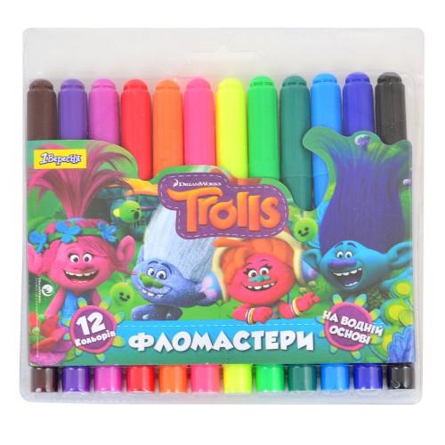 "Фломастеры 12 цв. Jumbo ""Trolls Dream"" 650338"