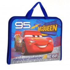 """Папка-портфель на молнии с тканевыми ручками """"Cars"""""""