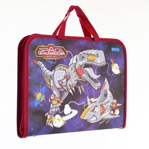 """Папка-портфель на молнии с тканевыми ручками """"Space Warrior"""" 491431"""