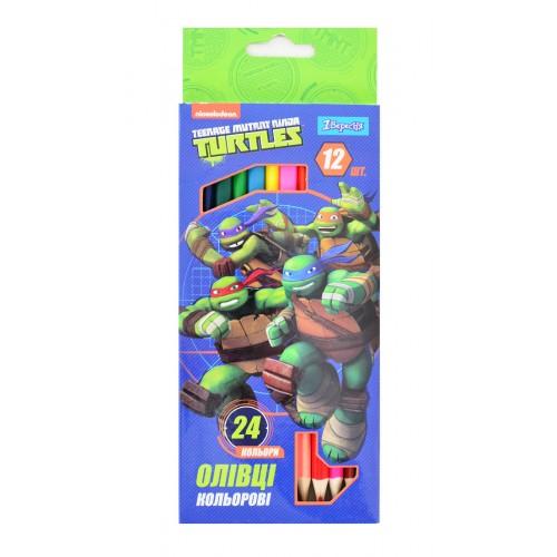 """Карандаши 12/24 цв. """"Ninja Turtles"""" 290482"""