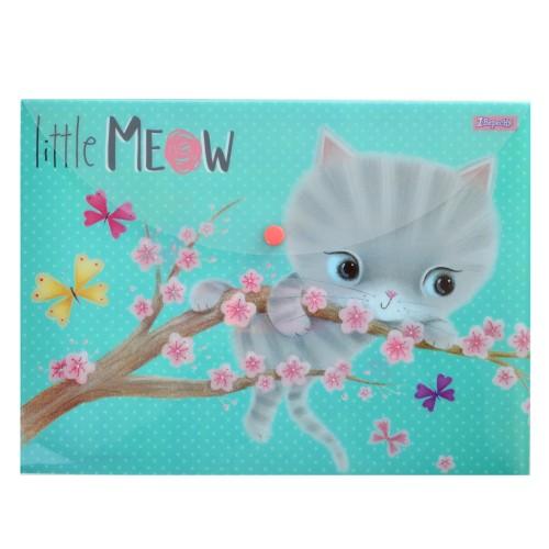 """Папка-конверт на кнопке А4 """"Little meow"""" 491345"""