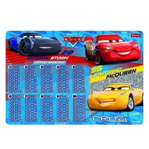 """Подложка для стола детская """"Cars"""" (табл.Умножения) 491471"""