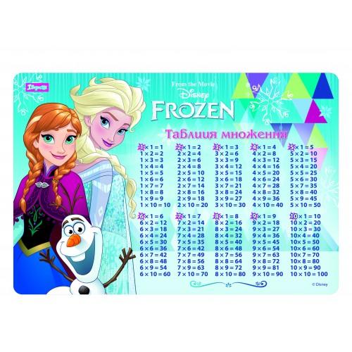 """Подложка для стола детская """"Frozen"""" (табл.умножения) 491475"""