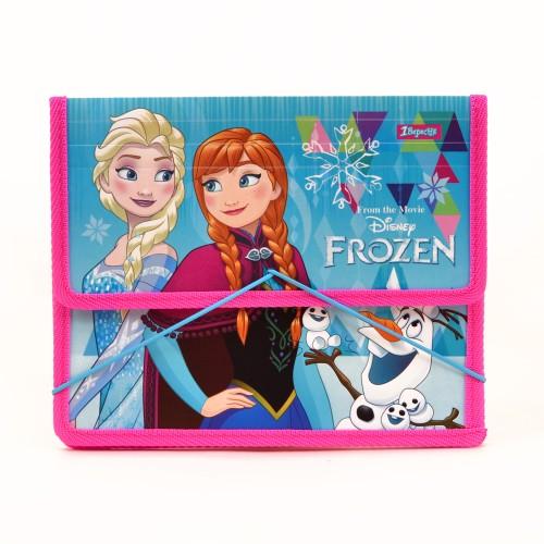 """Папка для тетрадей пласт. на резинке В5 """"Frozen"""" 491391"""