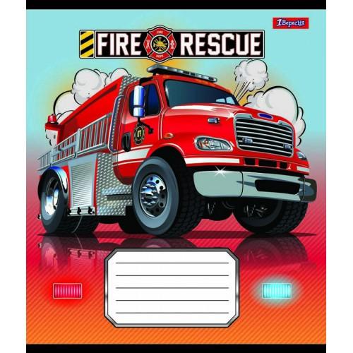 А5/12 кос. 1В Fire rescue, тетрадь ученич. 761870