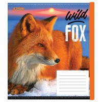 А5/12 кос. 1В Wild fox, тетрадь ученич.