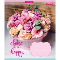 А5/18 лин. 1В Happy Flowers, тетрадь ученич.