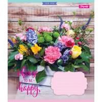 А5/96 кл. 1В Happy Flowers, тетрадь ученич.
