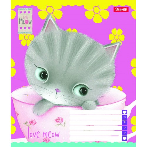 А5/12 кос. 1В Love Meow, тетрадь ученич. 761840
