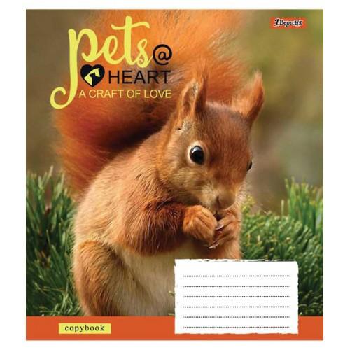 А5/12 лин. 1В Pets heart, тетрадь ученич. 761782