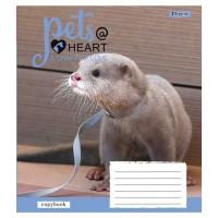 А5/12 кос. 1В Pets heart, тетрадь ученич.