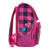 Рюкзак школьный каркасный 1 Вересня H-11 Barbie red, 33.5*26*13.5
