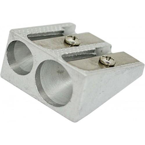 Точилка металлическая двойная, длина лезвия 2.3см new 620165