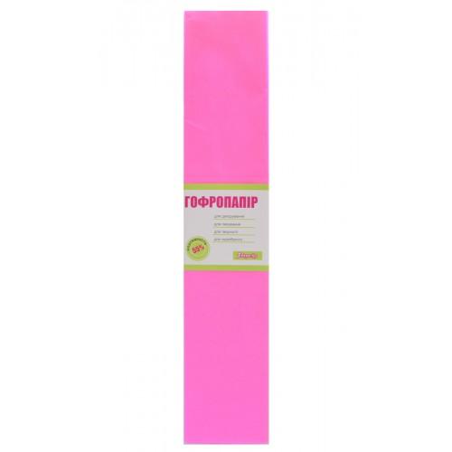 Бумага гофр. 1Вересня светло-розовая 55% (50см*200см) 705389