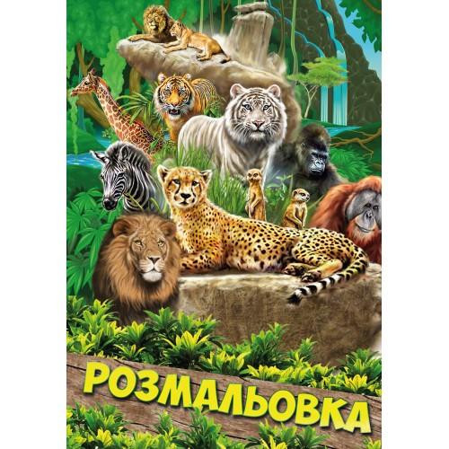 """Раскраска А4 1Вересня """"Животные 2"""", 12 стр. 742423"""