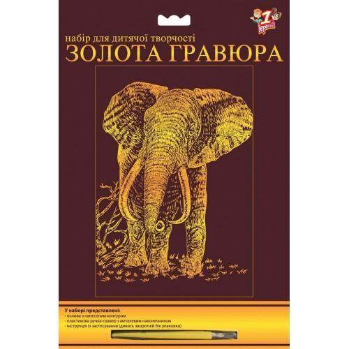 "Гравюра ""Слон"" 951078"