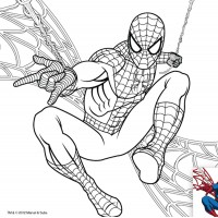 """Холст с контуром """"Человек-паук"""" (25см*25см) с красками"""