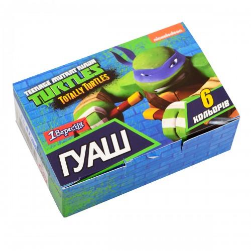 """Гуашь 1Вересня """"Ninja Turtles"""" 6 цв. 10 мл 230363"""