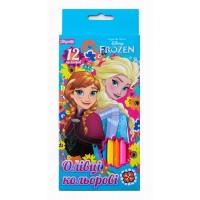 "Карандаши 1 Вересня  12 цв. ""Frozen"""