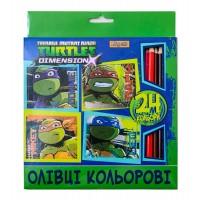 """Карандаши 1 Вересня  24 цв. """"Ninja Turtles"""""""