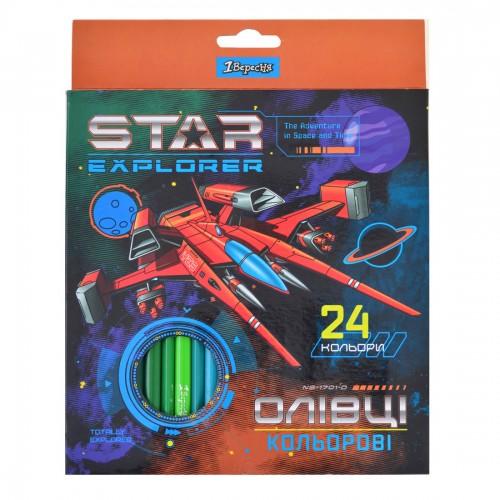 "Карандаши 24 цв. ""Star Explorer"" 290550"