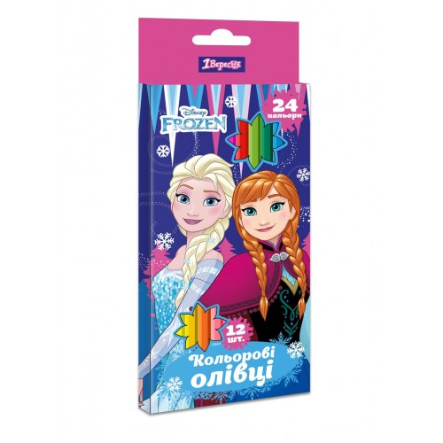 "Карандаши 1 Вересня 12/24 цв. ""Frozen"" 290619"