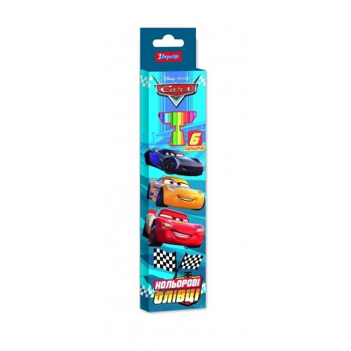 "Карандаши 1 Вересня 6 цв. ""Cars"", пласт. корп. 290629"
