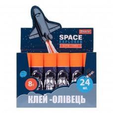 "Клей-карандаш 1 Вересня, 8г, PVA ""Space"""
