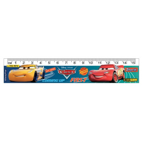 "Линейка 1Вересня 15 см ""Cars"" 370491"