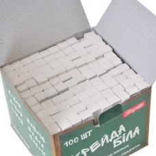 Мел белый 1Вересня 10х10мм, 100 шт., квадратный