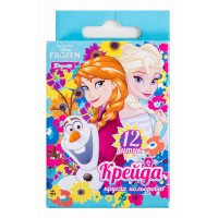 """Мел 1 Вересня цветной круглый  12 шт. """"Frozen"""""""