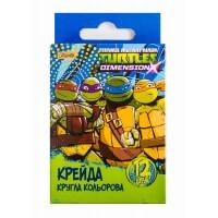 """Мел 1 Вересня цветной круглый  12 шт. """"Ninja Turtles"""""""