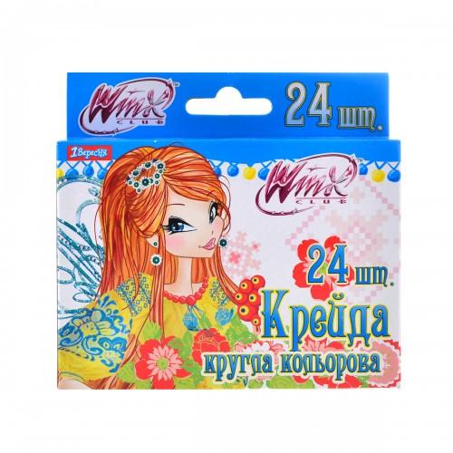 """Мел цветной круглый 24 шт. """"Winx"""" 400189"""